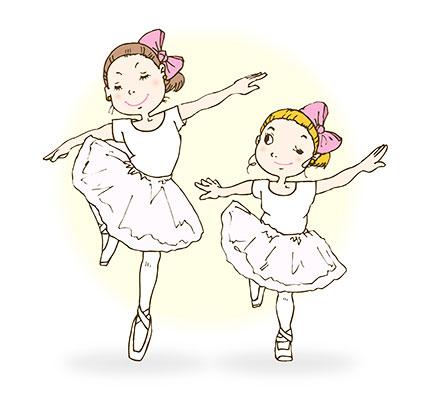 幼い2人のバレリーナ