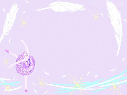 白鳥の湖を踊っているバレリーナ