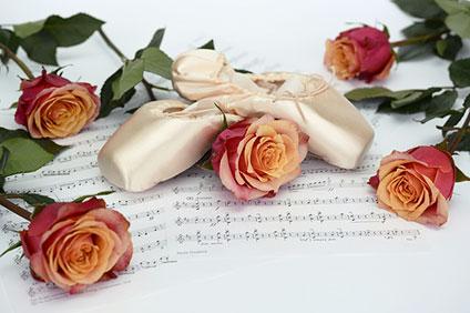ポアントと薔薇と楽譜