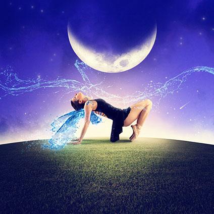 月が出ている夜に踊るバレリーナ