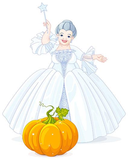 かぼちゃに魔法をかける仙女