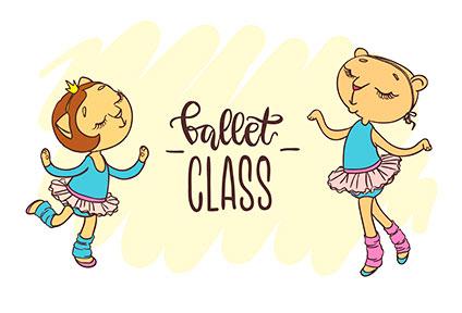 今日はバレエのクラスがある日