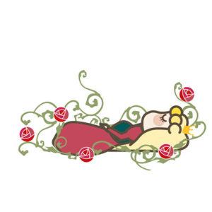 100年の眠りについているオーロラ姫