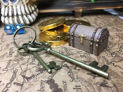 地図と宝箱