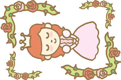 眠っているオーロラ姫